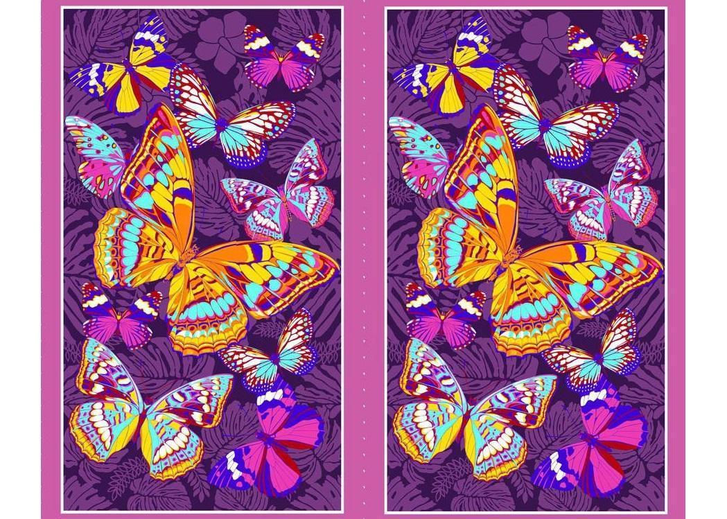Бабочки (сиреневое)